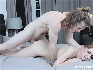 Kelsey Kage messing with her wild step brother