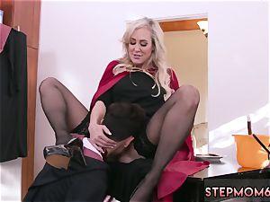 blondie shaking orgasm xxx Halloween sensational With A three-way