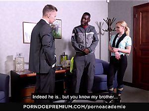porno ACADEMIE - anal invasion three way with ash-blonde college girl