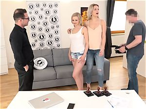 exposed audition - Czech honey screwed in steaming casting