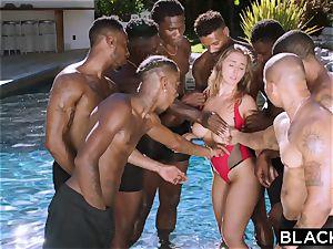 BLACKED Lena Paul first multiracial gangbang