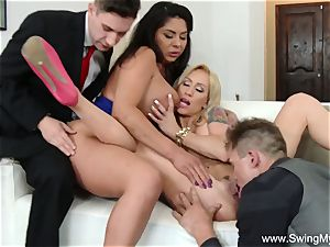 two Swinger Couples group romp