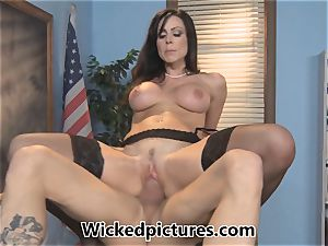 drowsy college girl is pulverized by tutor Kendra lust