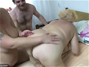OldNanny grandmother and mature jacked wooly fuckbox