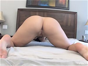 Alison Tyler strokes with a glass dildo for you