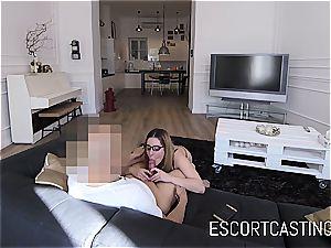 youthful hooker gal Ally gets jism in her throat on hidden camera