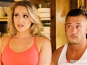 Mia Malkova and Olive Glass puss romped in the kitchen