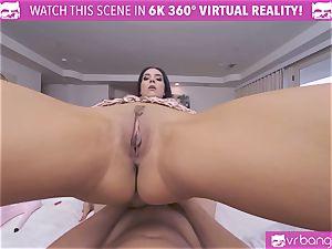 VRBangers steaming virgin dark haired stunner Getting climax