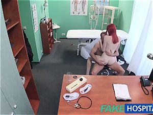 FakeHospital super-cute sandy-haired rides physician for cash