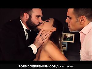 hardcore SHADES - Tina Kay double penetration and bj in MMF plow fest