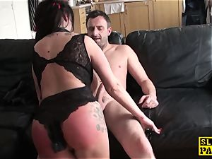 Bigtitted british sub abased by male domination
