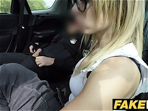 faux Cop Unregistered driver creampied by cop